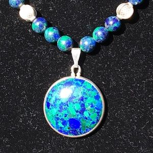 Vintage hand crafted Eilat Stone Necklace